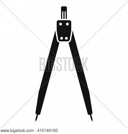 Carpenter Compass Icon. Simple Illustration Of Carpenter Compass Vector Icon For Web Design Isolated