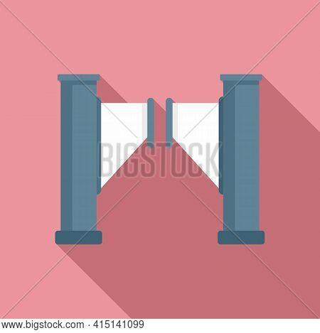 Turnstile Barrier Icon. Flat Illustration Of Turnstile Barrier Vector Icon For Web Design