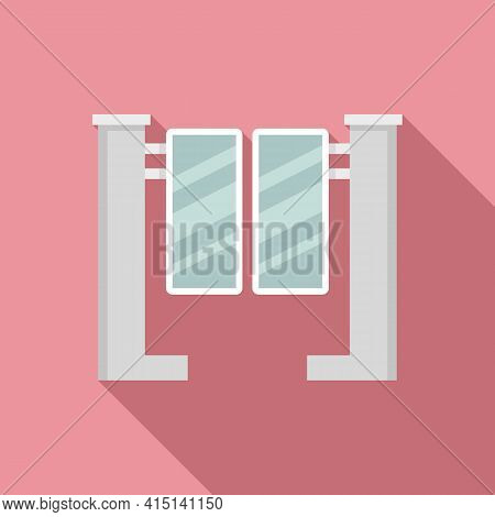 Closed Turnstile Icon. Flat Illustration Of Closed Turnstile Vector Icon For Web Design