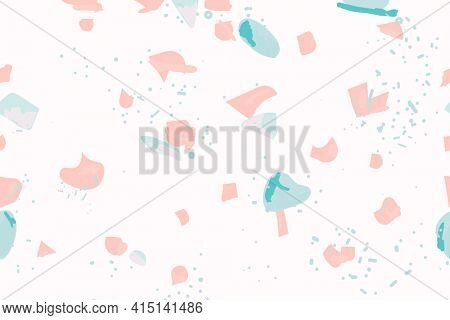 Terrazzo pattern abstract background in pink and blue