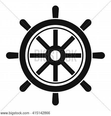 Navigation Ship Wheel Icon. Simple Illustration Of Navigation Ship Wheel Vector Icon For Web Design