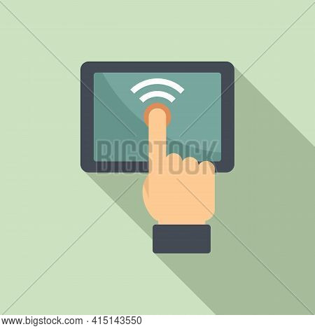 Touch Remote Control Icon. Flat Illustration Of Touch Remote Control Vector Icon For Web Design