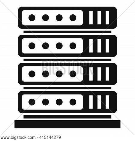 Server Rack Icon. Simple Illustration Of Server Rack Vector Icon For Web Design Isolated On White Ba