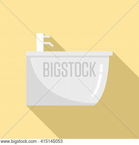 Ceramic Bidet Icon. Flat Illustration Of Ceramic Bidet Vector Icon For Web Design