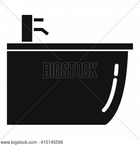 Ceramic Bidet Icon. Simple Illustration Of Ceramic Bidet Vector Icon For Web Design Isolated On Whit