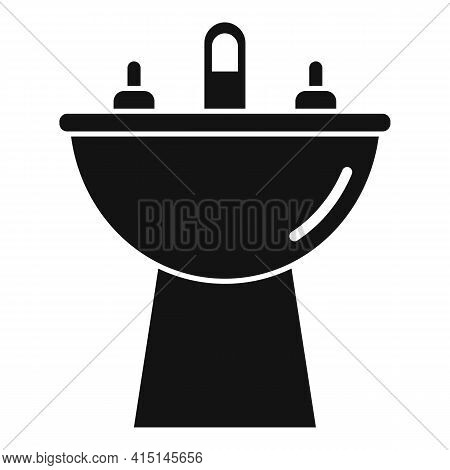 Domestic Bidet Icon. Simple Illustration Of Domestic Bidet Vector Icon For Web Design Isolated On Wh