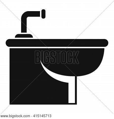Bath Bidet Icon. Simple Illustration Of Bath Bidet Vector Icon For Web Design Isolated On White Back