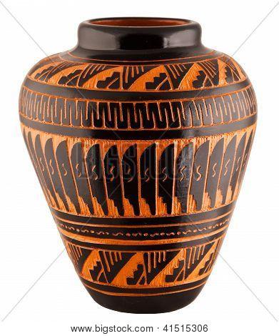 Navajo Native American Clay Pottery Vase