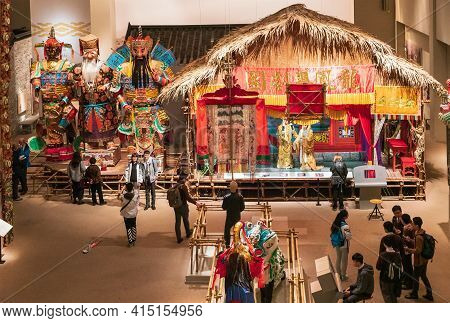 Hong Kong, China - January 20, 2016: Historic Expositions In Hong Kong Museum Of History Represent A
