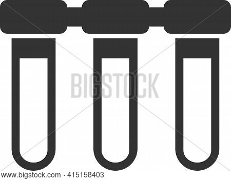 Icon Of Filters For Drinking Water Purification. Black Silhouette.