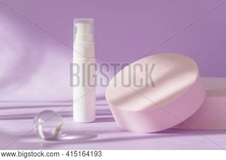 Minimal Template, Cosmetics Brand Packaging. Beauty Skincare Cosmetic Mockup. Cream Product Presenta