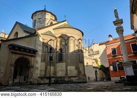 Ancient Architecture In The City Of Lviv. The Armenian Cathedral Of The Assumption Of Mary, Armenian