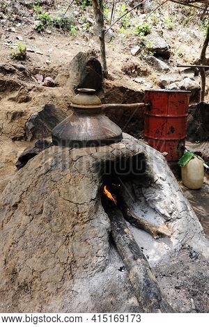 Home Distilled Liquor Made In The Goa Region In India
