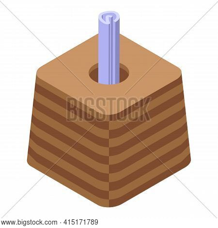 Dinner Table Tissue Icon. Isometric Of Dinner Table Tissue Vector Icon For Web Design Isolated On Wh