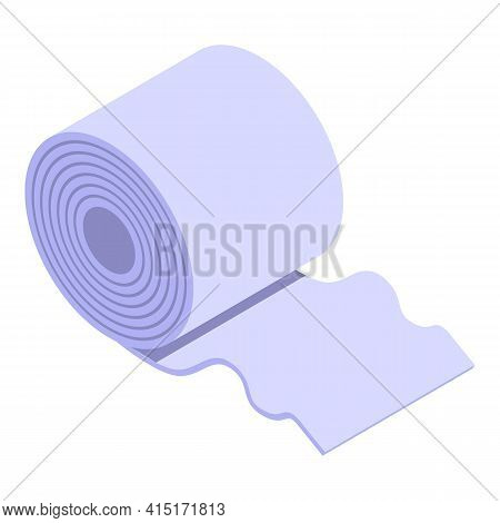 Toilet Paper Roll Icon. Isometric Of Toilet Paper Roll Vector Icon For Web Design Isolated On White
