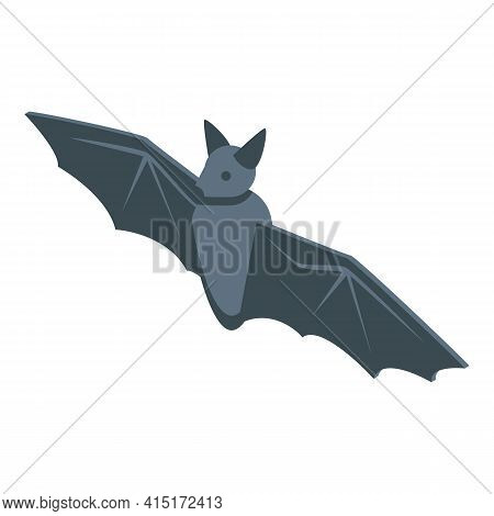 Scary Bat Icon. Isometric Of Scary Bat Vector Icon For Web Design Isolated On White Background