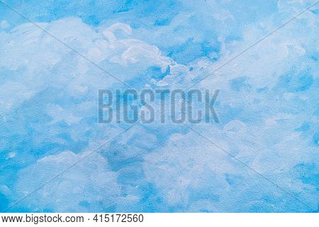 The Watercolour Background That Blends In Light Blue, Simple And Creative. Paint With Aqua Blue Shad