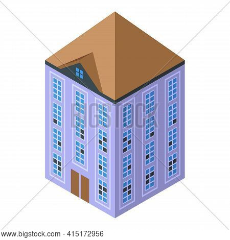 Big Creepy House Icon. Isometric Of Big Creepy House Vector Icon For Web Design Isolated On White Ba