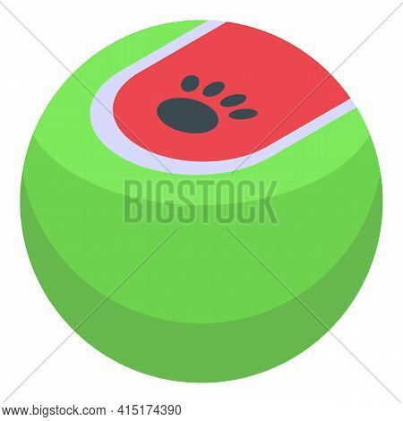 Playful Dog Ball Icon. Isometric Of Playful Dog Ball Vector Icon For Web Design Isolated On White Ba