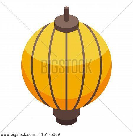 Floating Lantern Icon. Isometric Of Floating Lantern Vector Icon For Web Design Isolated On White Ba