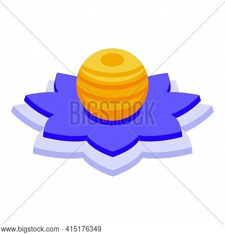 Meditation Lantern Icon. Isometric Of Meditation Lantern Vector Icon For Web Design Isolated On Whit