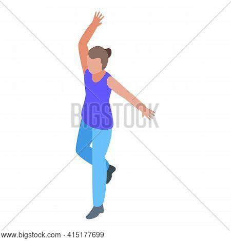 Pilates Hand Exercise Icon. Isometric Of Pilates Hand Exercise Vector Icon For Web Design Isolated O