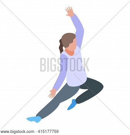Pilates Strength Icon. Isometric Of Pilates Strength Vector Icon For Web Design Isolated On White Ba