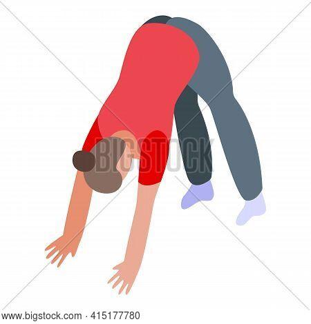 Pilates Back Strength Icon. Isometric Of Pilates Back Strength Vector Icon For Web Design Isolated O