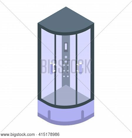 Massage Shower Stall Icon. Isometric Of Massage Shower Stall Vector Icon For Web Design Isolated On