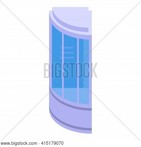 Door Shower Stall Icon. Isometric Of Door Shower Stall Vector Icon For Web Design Isolated On White
