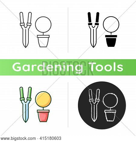 Pruning Shears Icon. Plant Manipulation. Clippers, Secateurs. Removing Deadheading Plants. Horticult