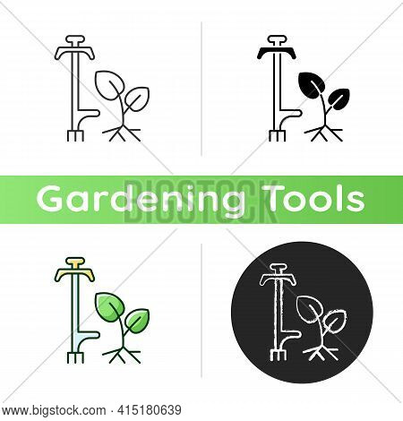 Weed Puller Icon. Garden And Lawn Care. Pulling Tool. Removing Unwanted Deep-rooted Weeds. Getting D