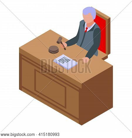 Judge Icon. Isometric Of Judge Vector Icon For Web Design Isolated On White Background