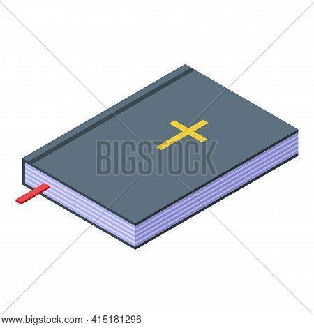 Justice Book Icon. Isometric Of Justice Book Vector Icon For Web Design Isolated On White Background