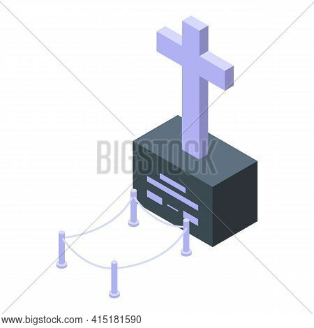 Inheritance Funeral Icon. Isometric Of Inheritance Funeral Vector Icon For Web Design Isolated On Wh