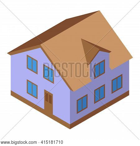 Inheritance House Icon. Isometric Of Inheritance House Vector Icon For Web Design Isolated On White