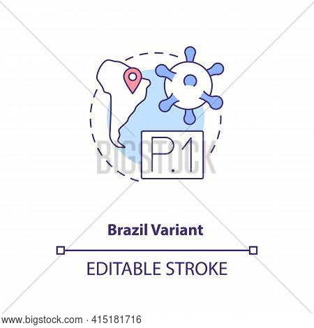 Brazil Variant Concept Icon. New Type Of Corona Virus. Illness Improving Due To Different Conditions