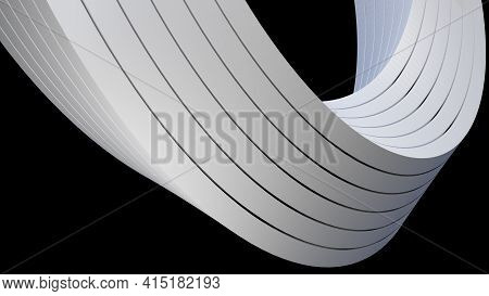 Abstract 3d Cgi Background, Computer Generated, With A Twisted Shape