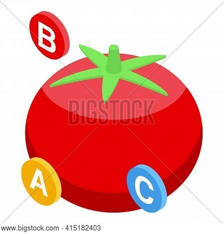 Gmo Tomato Icon. Isometric Of Gmo Tomato Vector Icon For Web Design Isolated On White Background
