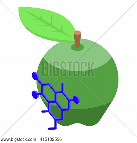 Gmo Apple Icon. Isometric Of Gmo Apple Vector Icon For Web Design Isolated On White Background