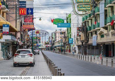 Bangkok/thailand-30 May 2020:khao San Road Under Covid 19 Situation.khaosan Road Is A Short Street I