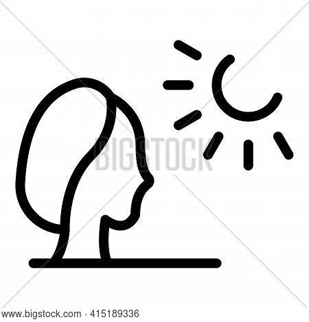 Woman Solarium Icon. Outline Woman Solarium Vector Icon For Web Design Isolated On White Background