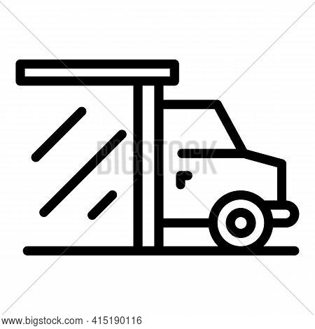 Buying Vehicle Icon. Outline Buying Vehicle Vector Icon For Web Design Isolated On White Background