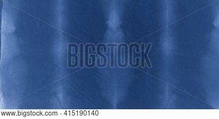 Indigo Striped Dye Print. Space Traditional Textile Design. Seaside Paintbrush Wallpaper. Space Trad