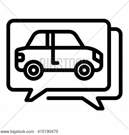 Vehicle Purchase Icon. Outline Vehicle Purchase Vector Icon For Web Design Isolated On White Backgro