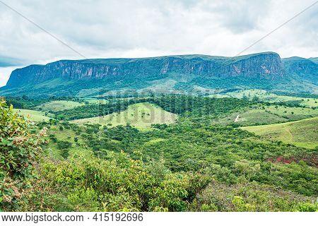 Brazilian Eco Tourism Landscape Of Minas Gerais State At Serra Da Canastra Region, At São Roque De M