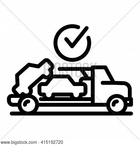 Car Commerce Icon. Outline Car Commerce Vector Icon For Web Design Isolated On White Background