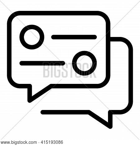 Online Chat Task Schedule Icon. Outline Online Chat Task Schedule Vector Icon For Web Design Isolate
