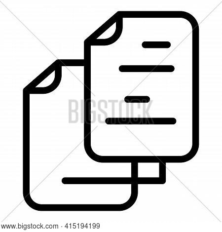 Backup Information Icon. Outline Backup Information Vector Icon For Web Design Isolated On White Bac