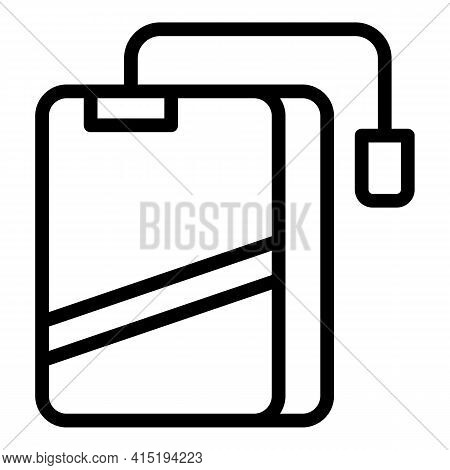 Backup Technology Icon. Outline Backup Technology Vector Icon For Web Design Isolated On White Backg